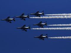 奈良基地開設60周年記念 ブルーインパルスのアクロバット飛行がやってきた