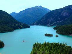 アメリカ3州・カナダ2州、国境沿いドライブの旅2週間2016 2、ディアブロ・レイク クルーズ(ノースカスケード国立公園)