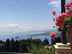 オーシャニア・リビエラ地中海クルーズvol.24 タオルミーナの花ホテルの素敵なひと時☆ベルモンドグランドホテル・テイメオ♪