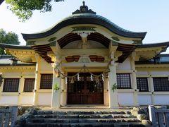 2016秋、尾張・島田城址と所縁の寺社(2/3):11月5日(2):音聞橋を渡って島田神社へ、神馬、牛像、狛犬、鷽かえ像