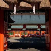 秋の 高野山 熊野三山 瀞峡へ -5 勝浦港 夜明け 熊野速玉神社