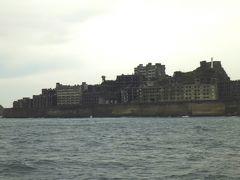 長崎3・・大荒れの軍艦島、大雨の稲佐山展望台