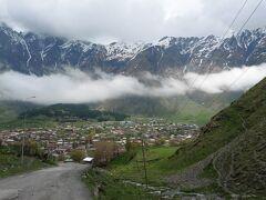 大コーカサス山脈の雄大さに感激!カズベギ村 最高!     グルジア(ジョージア)・アルメニア一人旅