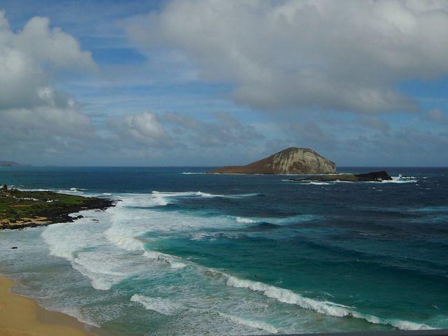 3日目は終日フリー。<br />バンを貸し切りオアフ島の観光スポット巡りです。<br /><br /><br />11/24<br />07:00 アランチーノ・ディ・マーレで朝食<br />09:30 バンでお迎え<br />10:00 ココヘッド<br />10:15 ハナウマ湾<br />10:25 潮吹き岩(ハロナ ブロウホール)<br />10:35 マカプウビーチ(ウサギとカメの岩)<br />10:50 ワイマナロビーチ<br />11:50 ドールプランテーション<br />13:00 カマロン シュリンプワゴンで昼食<br />14:00 アリイビーチ<br />15:00 この木なんの木(モアナルアガーデン)<br />15:30 ホテル着、ビーチ散策など<br />17:45 タンタラスの丘夜景ツアー<br />19:30 夕食<br />22:00 就寝<br /><br /><br />◆ハワイ旅行 その1 ~結婚式用衣装購入・ハワイ出雲大社・イオラニ宮殿・カメハメハ大王~<br />https://4travel.jp/travelogue/11194569<br /><br />◆ハワイ旅行 その2 ~早朝ダイヤモンドヘッド登頂、結婚式~<br />https://4travel.jp/travelogue/11194716<br /><br />◆ハワイ旅行 その4<br />https://4travel.jp/travelogue/11194980