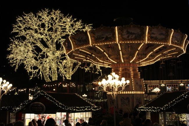 ヨーテボリの遊園地リーセベリで、<br />クリスマスイルミネーションを鑑賞したり、<br />クリスマスマーケットでお買い物したり、<br />一足先にクリスマスの雰囲気を味わってきた。
