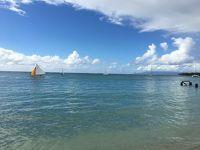 グアドループのビーチリゾートのサンテアン。