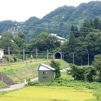 松之山温泉に行く(1)北越急行超快速とまつだい農舞台