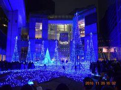 ☆12 Caretta Illumination 2016『カノン・ダジュール Canyon d'Azur ~青い精霊の森~』と新橋クリスマスイルミネーション