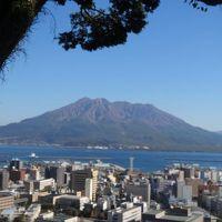 晴天の桜島と鹿児島名物達