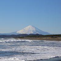 2016 年の瀬の富士山ビューイング:茅ヶ崎海岸&鎌倉稲村ヶ崎
