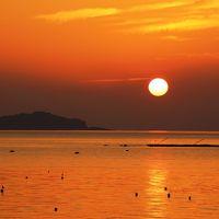 夕陽が美しい小浜温泉