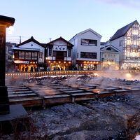 よいとこ♪草津で温泉&スキー・2日目—強風に泣いた草津国際・NEWオープン 草津ラスク「グランデフューメ」・湯畑ライトアップ—