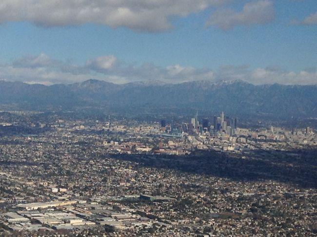 ロサンゼルス上空写真