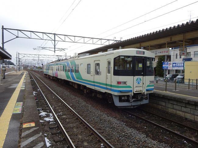 大震災に伴う大津波の影響で不通になっていた常磐線の相馬-浜吉田間が、昨年12月10日に線路を内陸に移設の上復旧しました。復旧ですが新線のような感じなので、乗りに行ってきました。<br />あわせて、いい機会なので、その周辺の鉄道その他にいろいろ訪れてみました。<br /><br />---<br />忠実に常磐線を通って、無事に岩沼駅に到着。<br />本日の目的はこれでコンプリートしたわけですが、せっかくなので、近くを走る阿武隈急行に乗りに行きました。<br />国鉄丸森線時代、そして福島まで通しでそれぞれ1回ずつ乗車していますが、それ以来約20年ぶりとなる久々の乗車となりました。