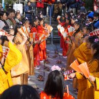 三崎の正月明けの行事、チャッキラコを拝見〜ユネスコ無形文化遺産にも登録されたお祭りの主役は小学生以下の女の子。地元の大人たちが温かく見守ります〜