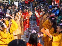 三崎の正月明けの行事、チャッキラコを拝見~ユネスコ無形文化遺産にも登録されたお祭りの主役は小学生以下の女の子。地元の大人たちが温かく見守ります~