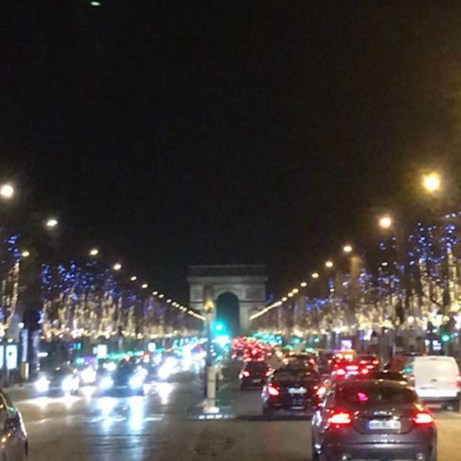 """今回の渡欧の目的は5つ! まずは、パリ・シャンゼリゼ通りで """"冬限定"""" のイルミネーションの写真を撮ること!2つ目はパリ・モンマルトルにあるゴッホが住んでいたアパートに行くこと!3つ目はドイツ・シュテーデル美術館でフェルメールの絵画『地理学者』をみること!4つ目はフランクフルト空港の見学ツアーに参加すること!そして、最後の1つは地元の伝統料理を食べること!パリでは鴨のコンフィ、フランクフルトではアイスバインを食べました(^∇^)"""