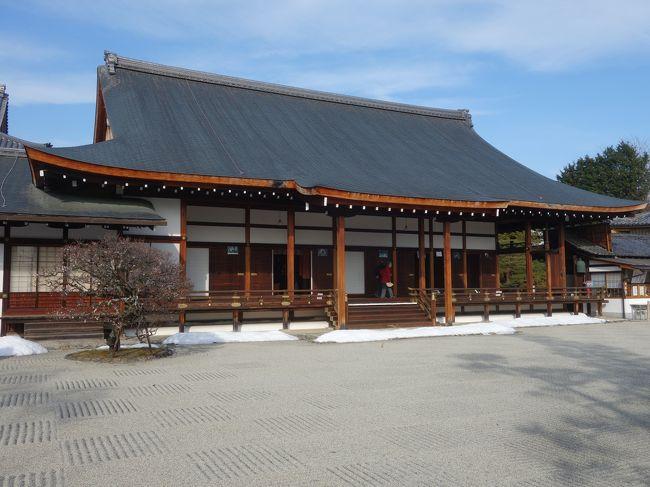 「第51回京の冬の旅 非公開文化財特別公開」の一環として聖護院でも特別公開をしていました。弁天様が拝めるというので,行ってきました。