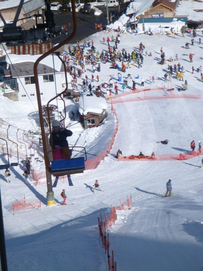 2日スキーしました。<br />暖かさで 朝は凍ってました。<br />2日目は 午後から雨でした。<br />