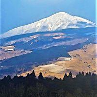 山鹿⇒杖立温泉 阿蘇山周辺 広大な雪景色!☆凍結路に注意/最前席の眺め