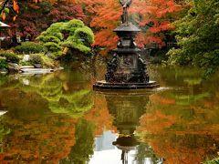 2016年秋 東京3日目 その1 日比谷公園のバラと雲形池の紅葉、皇居外苑