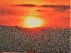 佐賀空港 日の入り~夕焼け 展望デッキから ☆充実した旅の終幕に