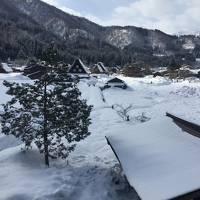 初白川郷!雪景色!
