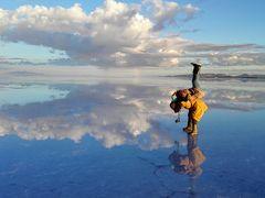 ボリビア 雨季のウユニ塩湖 1.青空と雲が織りなす天空の鏡