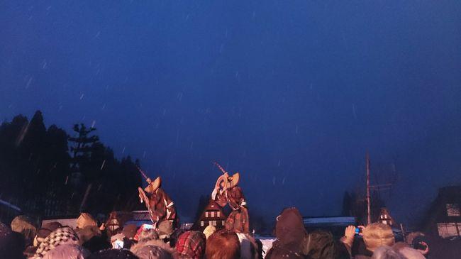 雪の合掌造りの山間の村を散策してみたい。そんな希望にぴったりなバス旅をクラブツーリズムで発見。備忘録。<br />五箇山では、富山の民謡「こきりこ節」を雪の中で鑑賞することができて感動的でした。<br />1日目: 飛騨高山、五箇山のライトアップ<br />2日目:兼六園、白川郷