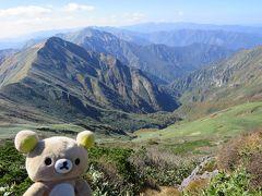 魔の山に行くクマ。谷川岳オキの耳を目指すクマ