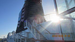 陰陽道 クルーズ船外側 2 :プライドオブアメリカ号でのハワイ四島クルーズ