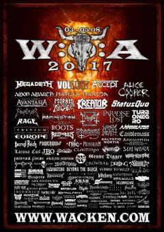 今年もHEAVY METAL三昧の「WACKEN OPEN AIR 2017」 に行ってまいります!!