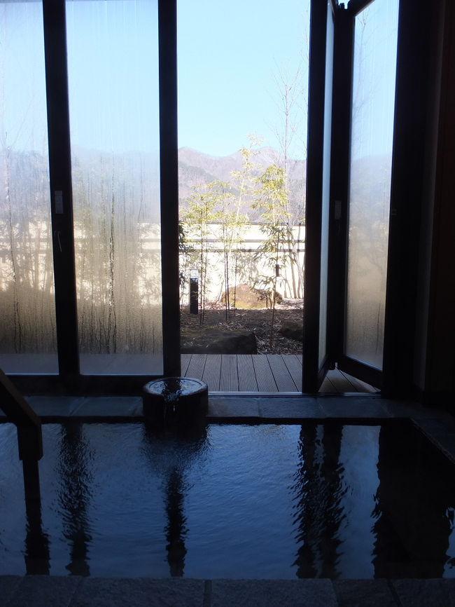 春だけど、まだ寒い川原湯温泉でぬくぬくと。