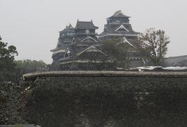 2017春、九州西北部の城巡り(26/35):3月31日(1):熊本城(1/4):雲仙で泊まったホテル、フェリーで熊本の長洲港へ、熊本城