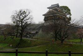 2017春、九州西北部の城巡り(29/35):3月31日(4):熊本城(4/4):隅櫓、修復準備中の石垣、熊本で昼食の後佐賀へ