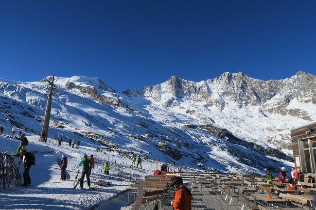 海外スキー2016/2017のファイナルは本命のザースフェースキー場。<br />近くにあるザースグルント、ザースアルマゲルはおまけ!!<br /><br />急遽予定を変更して行ったイタリア・ピーラのからスイスに戻ってきて、本命#2のここザースフェーに来た。<br /><br />が、この時期のスイスのスキー場は2か月ほど降雪が無いので、本命でコケるスキー旅行になってしまった。<br /><br />しかも、ザースフェーでランチ・ビュッフェを食べた後、お腹が急変!<br />一本当たりのコースがとても長く、またトイレが日本よりもプレッシャー的な状況で、お腹とお尻を抑えながらのスキーは、なかなかの経験だった!!<br /><br />その後宿では、もう意識が無い状態!!<br /><br />翌朝には復活できたのが、幸いな旅だった。<br />これはいい経験をした!!!  はぁ・・・<br /><br />■レポートは個人HPにありますので、よろしければ参照ください。■<br />・ザースフェー<br /> → http://www.soleil1969.com/ski/1617SwIt/1617_SaFeGrAl/1617_SaFeGrAl.html<br />・ザースグラント/アルマゲル<br /> → http://www.soleil1969.com/ski/1617SwIt/1617_SaFeGrAl/1617_SaGrAl.html<br />・海外スキートップページ<br /> → http://www.soleil1969.com/