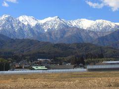 バスツアーで信州松本へ後半 穂高神社~松本城~雪化粧のアルプス一望のローカル線乗車