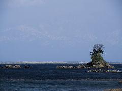 富山旅02 氷見 海の上にうっすーーら立山連峰