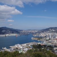 長崎県長崎市 鍋冠山の眺望と和華蘭文化の長崎市街地(2017年2月)