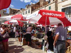 青空市場でイチジクをモグモグ(´~`)~16年夏クロアチアなど4カ国周遊8月12日その2ドブロブニク