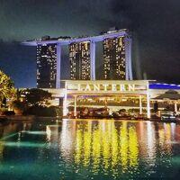 """31-3(6-3)★モルディブからの帰り道《シンガポール》で♪""""魅惑の光と水の新しいショー""""♪{SPECTRA}を楽しむ♪☆『ザ・フラトンベイ(プレミアベイビュールーム)』&『JWマリオットサウスビーチ』★夫婦旅"""
