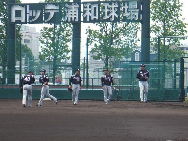 ロッテ浦和球場に残留選手の練習見学に行ってきました。