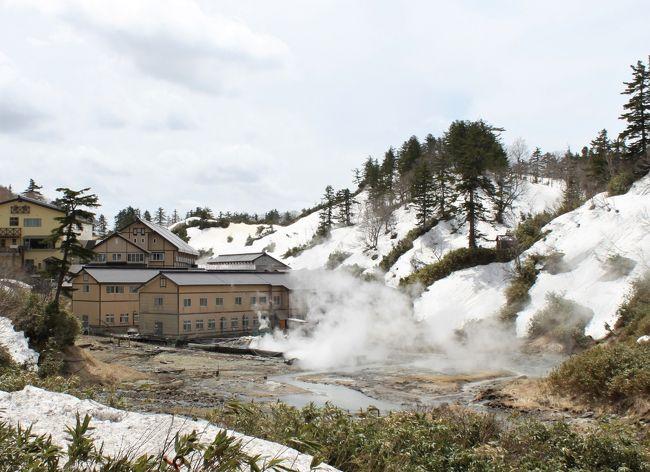 角館の桜を堪能した後は、温泉で癒されます。<br />まだ雪が残る山奥の温泉宿で、非日常の時間を過ごしました。<br />