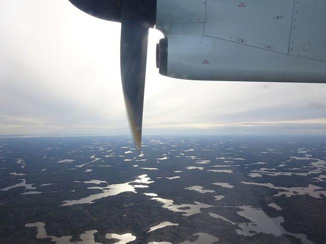 アメリカから始まった旅がイエローナイフに移動し、カナダの旅が始まります。<br /><br />アメリカ~カナダは場所にもよりますがやはり遠い。<br />丸一日かけての移動です。<br /><br />カナダの旅<br />☆1.6.12 ラスベガス(アメリカ)~イエローナイフ(カナダ)<br /><br />参考:地球の歩き方<br />   世界遺産アカデミー
