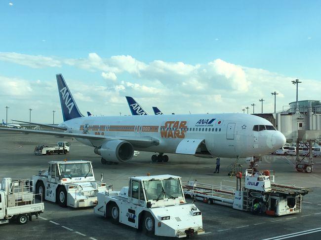 カリブ海クルーズの前にカナダの紅葉&黄葉を見ようとトロント乗り継ぎケベックへ。<br />羽田空港でANAのスターウォーズの飛行機に遭遇!!!<br /><br />エアーカナダの乗り継ぎ時間が短いのに、出発から30分も遅れ・・・<br />取り戻すかと思いきや・・・それもなく、遅れたままで入国、乗り継ぎへ。<br />やっと、ギリギリの時間に搭乗ゲートに行くと、ゲート変更!!!<br /><br />変更ゲートも遠く、思い切り走って変更ゲートに行くと違う行き先???<br />係員に聞くと、前の便が遅れていて、その便が出発したらケベック行きの便に成るという。<br />結局は、トロント発も30分程の遅れでケベックへ向かう。<br /><br />翌日、クリスタルセレニティに乗船してから、ケベックを少し散策してみる。