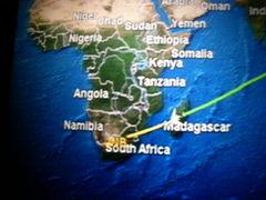 南アフリカへ? 何しに? (1) マダガスカル上空で新年を迎えました