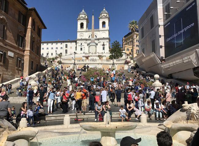 5月4日、フィレンツェからローマへ、イタロで移動しました。<br />ローマは、言わずと知れた世界遺産の街。<br />「ローマ歴史地区、教皇領とサン・パオロ・フオーリ・レ・ムーラ大聖堂」として世界遺産に登録されています。