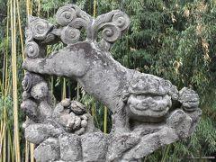 ウルトラマンと狛犬アートが見られる須賀川の町(福島)