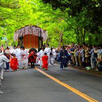 新緑の賀茂街道を厳かに牛車が進む -5月の京都の祭り Part 1-