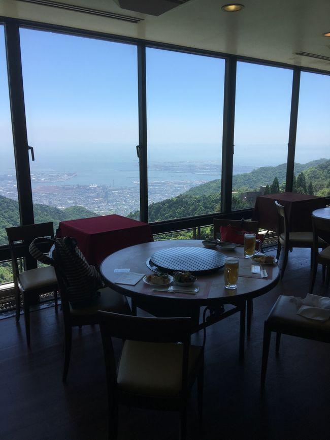 六甲山で神戸の街並みを見ながらバーベキューを食べ<br />スーパー銭湯でのんびり